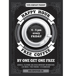 Happy Hour poster vector image vector image