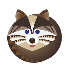 Head of raccoon decorative geometric stylization vector