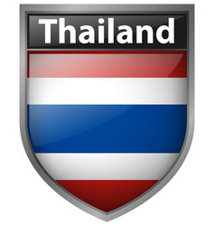 Icon design for thailand flag vector