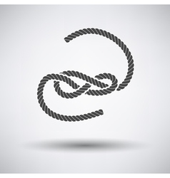 Knoted rope icon vector image