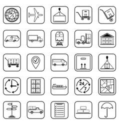 Logistics contour icons vector image vector image