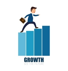 Man business walking growth progress vector