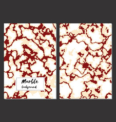 Marble texture background card templates vector