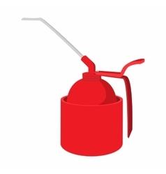 Portable gas burner cartoon icon vector