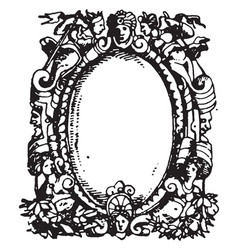 printers-mark typographical frame has the head vector image vector image