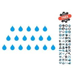 Rain drops icon with tools bonus vector