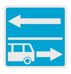 road for route vehicle icon flat style vector image vector image