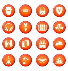 Safety icons set vector