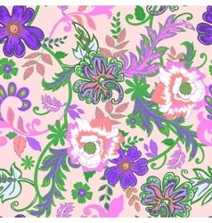 Seamless floral background Isolated lilac flowers vector image vector image