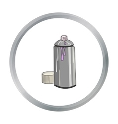 Spray paint can icon in cartoon style isolated on vector