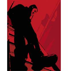 the man on a ladder vector image vector image
