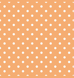 Tile pattern with white polka dots on pastel coral vector