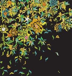 Weird floral pattern vector