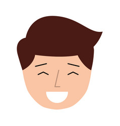 Young man expression face avatar character vector