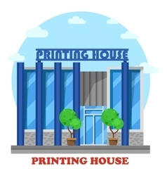Printing house or typography shop or store vector image