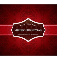 Abstract background with Merry Christmas sign vector image