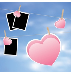 Heart with film frame on rope vector