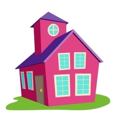 Colored house icon cartoon style vector