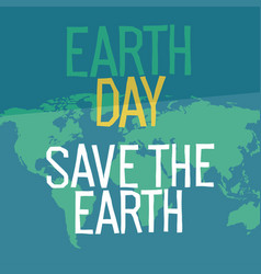 earth day poster design in flat style similar vector image