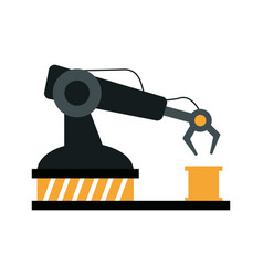 Assembly line industrial machine icon image vector