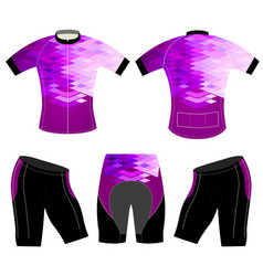Purple style on sports t-shirt vector