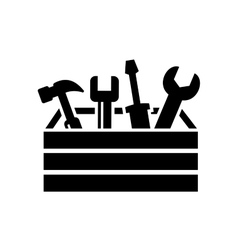toolbox with tools icon vector image