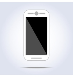 White phone on white background vector