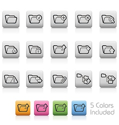 Folders Buttons vector image