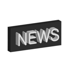 3D banner news vector image