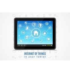 Internet of things tablet vector