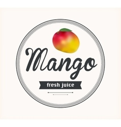 Mango juice detailed label vector