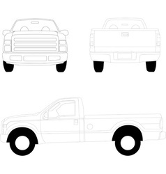Pick-up truck vector