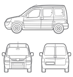 Outline minivan vector