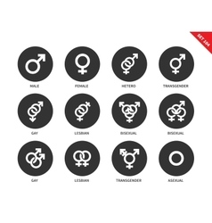Sexual orientation icons on white background vector image