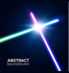 Abstract background two crossed neon swords fight vector