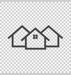 Black home icon on isolated background vector