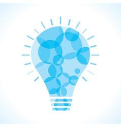 Blue circle bulb background vector