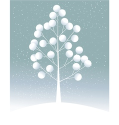Cartoon lonely tree vector image vector image
