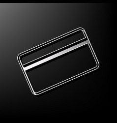 Credit card symbol for download gray 3d vector