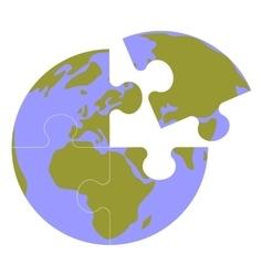 Earth globe set 013 vector image vector image