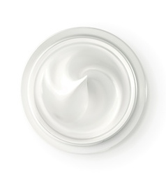 Hygienic cream top view vector image vector image