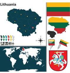 Lithuania map vector