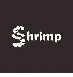 Logo shrimp vector image