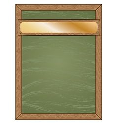 Menu chalkboard with gold table vector image