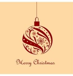 Ornate christmas ball vector