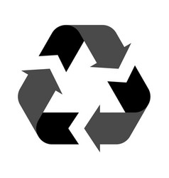 recycle symbol isolated on a white background vector image