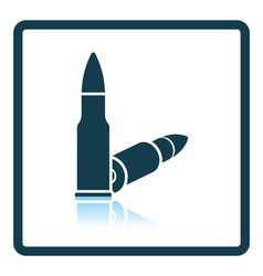 Rifle ammo icon vector image vector image