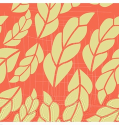 seamless pattern with pink leaves 2 vector image vector image