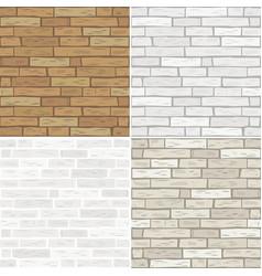 set textures of brick vector image vector image