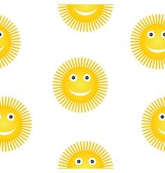 Sun symbol seamless pattern vector image vector image
